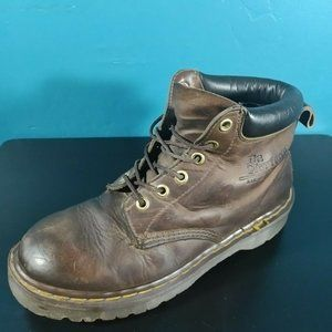 Dr Martens Docs Brown Leather Boots  80s 90s Air Cushion Insole Mens 6 Womens 8
